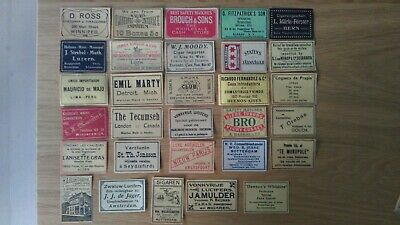 Vintage Swedish Matchbox Labels(1) - Business Advertising, Mostly USA, 100+