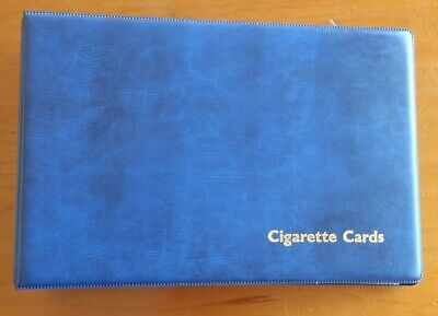 Cigarette cards folder and empty sleeves