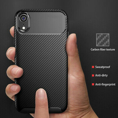 CARBON FIBRE Slim Case For iPhone 11 / 11 Pro Max Cover Silicone Gel Shockproof