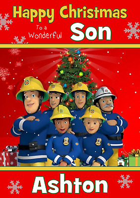 ANY NAME AGE RELATION FIREMAN SAM D3 PERSONALISED BIRTHDAY CARD