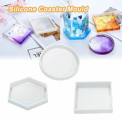 Coaster Resin Casting Mold Silicone Jewelry Agate Making Epoxy Mould Craft %N