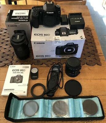 Canon 80D with 55-200mm IS STM Lens Boxed In Excel. Cond. Bag Plus Accessories!