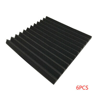 6Pcs Acoustic Panels Tiles Studio Sound Proofing Insulation Closed Cell Foam