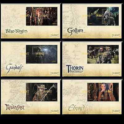 """The Hobbit """"An Unexpected Journey""""  set  de 6 First Day Covers"""