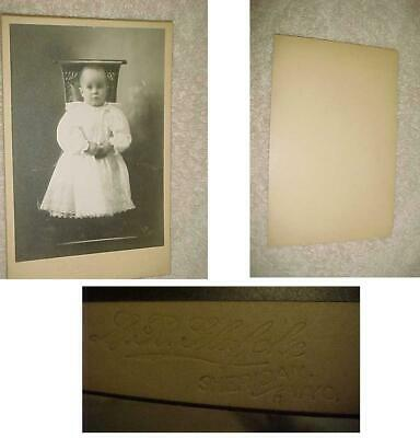 Cabinet Photo Sheridan Wy Baby Girl Pretty Dress Scared Look More Listed