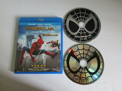 Spider Man Homecoming Blu Ray & Dvd Bluray Mint Spiderman Marvel