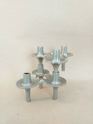Mid Century Modern BMF / Nagel Modular Chrome Candle Holders x 2
