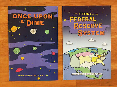 US FEDERAL RESERVE BANK PROMO Comic Books Lot Collectibles 1st Ed Once Upon Dime
