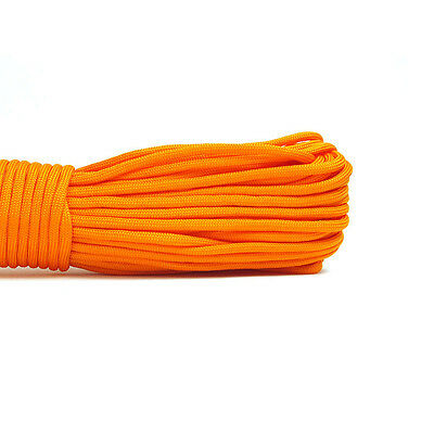 550 Paracord Parachute Cord Lanyard Mil Spec Type III 7 Strand Core 100 FT OG