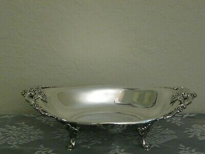 """Vintage Large Oval Wallace Silver Plated Baroque Serving Bowl  -  16"""""""