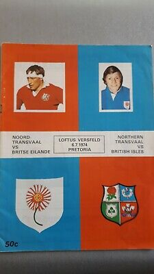 Northern Transvaal v British Isles - British & Irish Lions - 6th July 1974