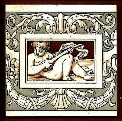Antique Minton Picture Tile C1890
