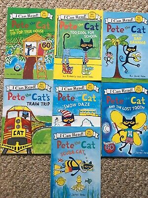 Pete The Cat Lot Of 7 Childrens Books Reading My First I Can Read ~ James Dean