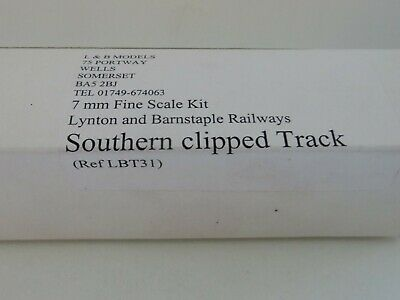 7mm Finescale Lynton and Barnstable Southern clipped track bases L&B Models