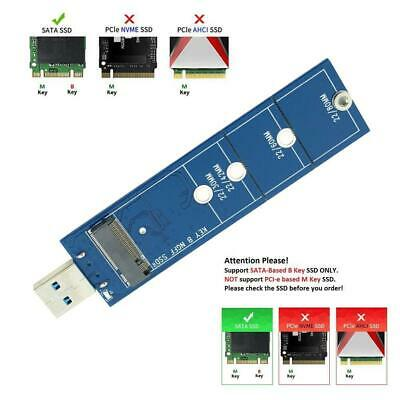 2230 2242 2260 2280 M.2 B Key NGFF SATA SSD to USB 3.0 Adapter Converter Card N/