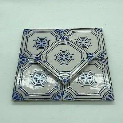 Antique Tile Earthenware Leclerc a Marten High Garonne 10,5 x 10,5, in the UNIT