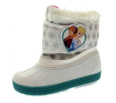 Officially Licensed Disney Frozen Movie Girls Winter Snug Wellie Boots Anna Elsa