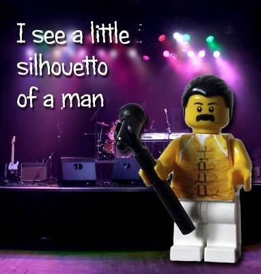 Queen Freddie Mercury Bohemian Rhapsody Custom Lego Minifigure Set with Drums!
