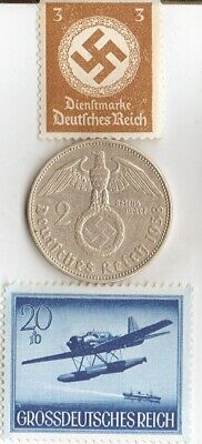 "*egyp.*king ""TUT"" + WW2-*german SILVER EAGLE coin/STAMP of ""SHUKA-Float  Plane"""