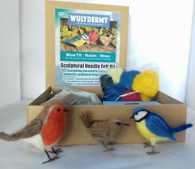 Needle felting kit British Birds British wool Unboxed