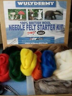 Hare & Badger Needle Felt Starter Kit 100% British wool UNBOXED