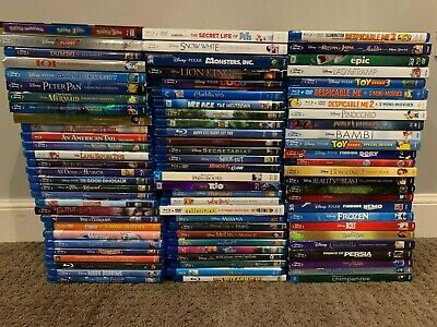 HUGE Kids Disney Bluray Movie Collection 94 Total Movies! Great Collection!