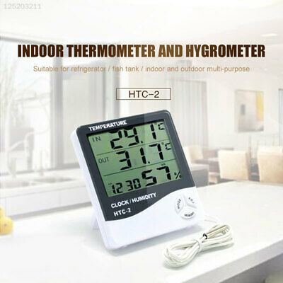 564E ABS Digital Thermometer Indoor Hygrometer Greenhouse Household Convenient