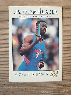 US Olymp Cards Michael Johnson Leichtathletik OS 1992 Nr. 87 Trading Card