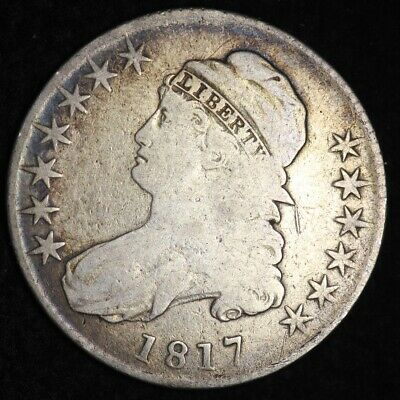 1817 Capped Bust Half Dollar CHOICE FINE+ FREE SHIPPING E349 AFT