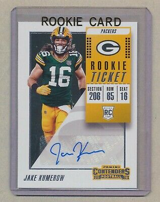 JAKE KUMEROW 2018 AUTO Contenders Variation RC GREEN BAY PACKERS #272 Autograph