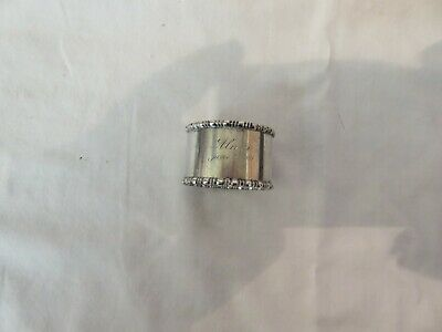 Vintage Sterling Silver Napkin Ring, Towle. Dated June 27, 03