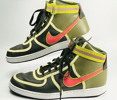 NIKE VANDAL HIGH Leather 309427 381 Mens Size 10.5 Army