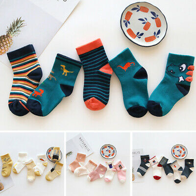 Children Socks Toddlers Socks Autumn Breathable Casual Baby Winter 5 Pairs Girls