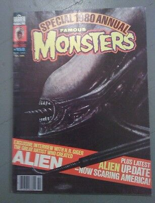 Famous Monsters #158 October 1979 Special 1980 Annual H.r. Giger Alien