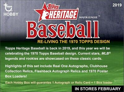 2019 Topps Heritage Pick Your Card #1-196 Free Shipping and Discounts