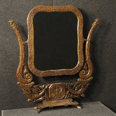 Psyche French Furniture Mirror Mirror Art Nouveau Wooden Antique Style 900