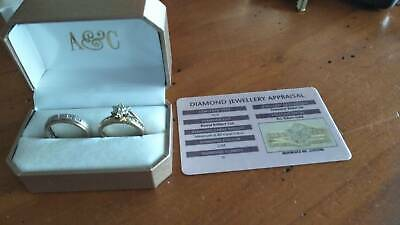 Diamond engagement ring set RRP over $2000.00