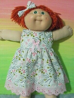 "16"" CABBAGE PATCH Dolls Clothes / DRESS*HEADBAND / Pink Tulips"
