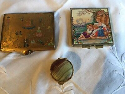 vintage powder compacts and pill box