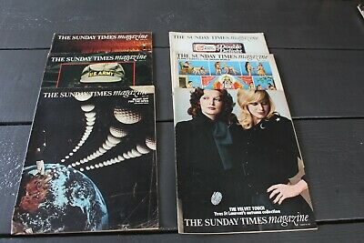 6 x SUNDAY TIMES Magazines 1971 including Yves St Laurent