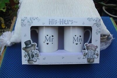 LOVELY  Pair Hugs His And Hers Mugs