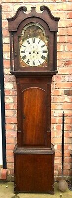 Antique Rolling Moon Mahogany Longcase Grandfather Clock W LONGDON WEST BROMWICH