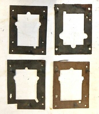 4 x Antique False Plates for Longcase / Grandfather Clocks