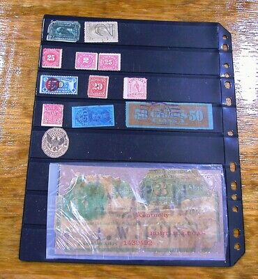 US Revenue Stamp Collection of 13 old stamps
