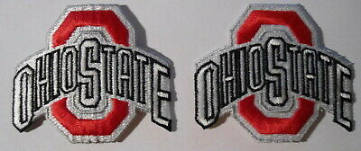 Ohio State  Buckeyes  2   Patches  Embroidered   New