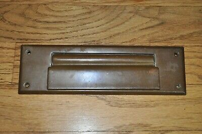Vintage SOLID BRASS MAIL SLOT for Letters