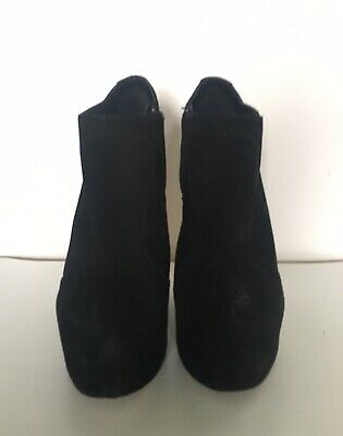 Carvella Boots • Patent Wedge Heel • Black Suede • Size 38