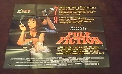 Pulp Fiction 1994 Tarantino Post Cannes Uk Quad Poster Ds Fold Great Condition.