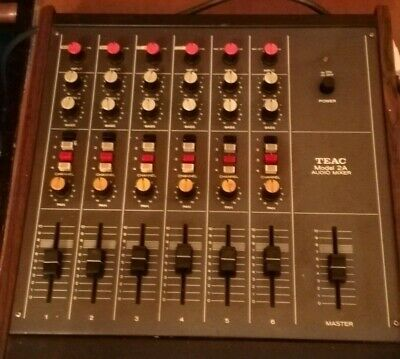 Vintage teac model 2A audio mixer made in Japan