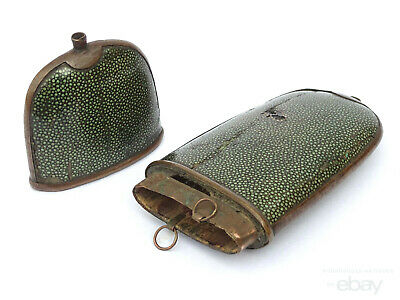 19th C. Antique Chinese Qing Dynasty Shark Skin Shagreen Glasses Case